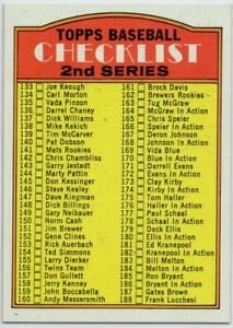 1972 Topps #251 Pack Fresh Mint STUNNING 3rd Series Checklist FREE SHIPPING