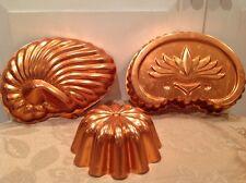 Vintage Copper Dessert Molds