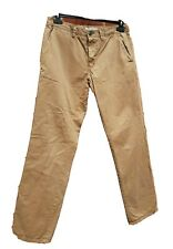 "Next Cotton Tan Straight Leg Button Fly Chino Trousers Size: 32R (W 32"" L31"")"