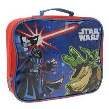 DISNEY Sac à gouter STAR WARS  école sacoche bleu rouge Yoda Dark Vador Neuf