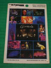 Genesis Rare 1982 Self-Adhesive Mini-Poster Htf Out Of Print New Phil Collins