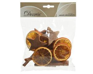 Potpourri Mix getrocknete Orangenscheiben Zimtstangen Kokossterne Basteln Deko