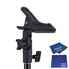 Phot-R Studio Clamp Holder 5-in-1 Reflector Light Stand Microfibre Chamois Cloth
