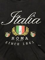 ROMA ITALIA Men's Blue Cotton Smartee T-Shirt XXL