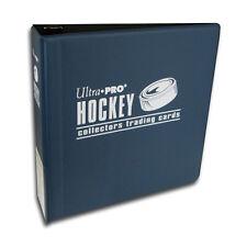 "Lot of 10 Ultra Pro 3"" Hockey Card Binder Collector's Album Blue Binders New"