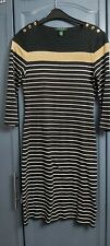 Ralph Lauren Size Small Ladies Jumper Dress Black White And Gold