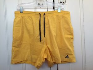 Cheerful Adidas Size XL Yellow Cotton Volley Swim Shorts (suit 36 - 38)