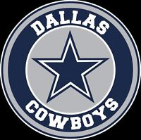 Dallas Cowboys Circle Logo Vinyl Decal Sticker - You Pick the Size