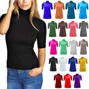 Women's Short Sleeve Summer Tops Casual Tank Top Tee T Shirt New UK Plus Size