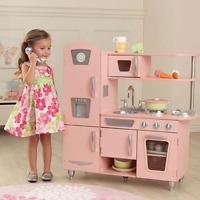 NEW KidKraft Pink Vintage Kitchen Kids Cooking Fun Pretend Play Children 53179