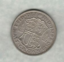 KEY DATE 1930 GEORGE V HALF CROWN IN EXTREMELY FINE OR BETTER CONDITION
