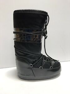 Moon Boot Womens Nylon Snow Boots Black Size 4.5-7 M