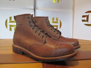 "Chippewa Original Brown Pebbled Full Grain LEATHER Homestead 6"" Boot 9.5 1901G35"