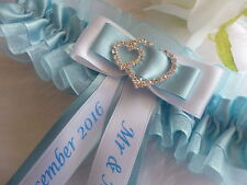 BRAND NEW PERSONALISED WEDDING GARTER/HEN GARTER CHOICE OF COLOURS
