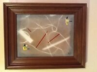ORIGINAL ABSTRACT OIL PAINTING SIGNED BY ARTIST 17 X 14
