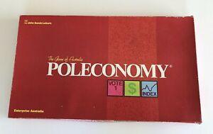 POLECONOMY: The Game of Australia Vintage 1980's John Sands Board Game