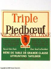1960s Brouwerij Piedboeuf Triple V1 Label Tavern Trove