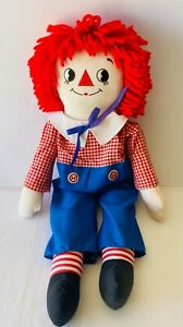 RAGGEDY ANDY Vintage Soft Plush Toy Cloth Rag 90s Doll Applause 66cm FREE POST