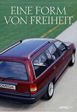 Prospekt Opel 9 89 Autoprospekt 1989 Omega Kadett Caravan Club brochure broschyr
