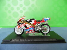 MODELLINO MOTOCICLETTA METALLO-1/24-SUZUKI GSX-R---GUYOT-SCARNATO-DUSSAUGE-2001