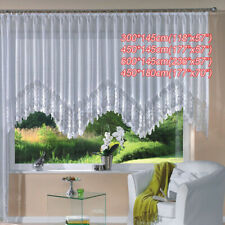 Romantic Style Knitted Jacquard Arch Curtain Half Shading White Lace Curtain AU