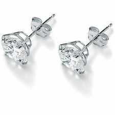 diamond earrings 2.01 ct white  gold f /si2 14k gold 100% natural certified
