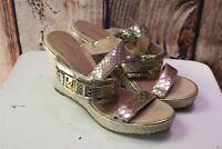 Sperry Wedge Gold 7.5 M Women's Shoes