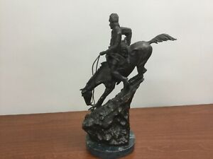 Frederic Remington MOUNTAIN MAN Bronze Collectible Statue  / Heavy Sculpture