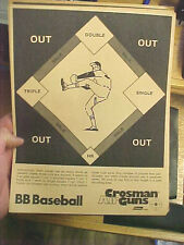 "FT4 Vintage RARE Crosman Air guns target Coleman co. BB Baseball  8.5"" x 11"""
