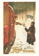 More details for frys advert - yes its frys - frys cocoa - mumbles railway postcard advertising.