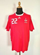 France National Team Jersey Euro 2008 Franck Ribery #22 Red Adidas Away XL/XXL