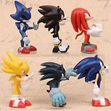 Sonic The Hedgehog Knuckles Shadow 6 PCS Action Figure Cake Topper Doll Toys NEW