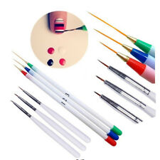 6x Nail Art Pens Brush Set Detail Drawing Liner Artist Modelling Manicure Supply