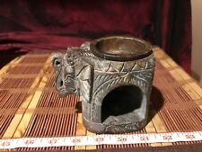 Marble Aroma Lamp Candle Stand Elephant Shape Oil Burner Bedroom Decor