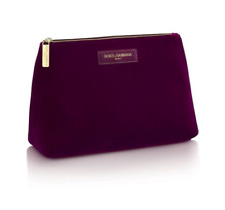 c4c57a1fc986 Dolce Gabbana Beauty Cosmetic Makeup Hand Bag Pouch Women Velvet Merlot  Burgundy