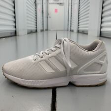Adidas ZX Flux Athletic Sneakers Casual Shoes White Gum Mens US Size 8.5 Walking