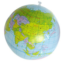 Fa- 16Inch Inflatable Globe Education Geography Toy Map Balloon Beach Ball New T