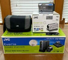 JVC Everio GZ-MG335HU HDD Camera Camcorder W/Sharestation CU-VD20 DVD Burner