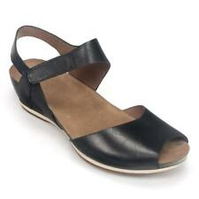 Dansko Vera Comfort Wedge Open Toe Sandals Womens Black 38 8