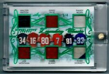 3/4 WALTER PAYTON Joe Montana John Elway Jerry Rice 2020 LEAF GAME USED JERSEY
