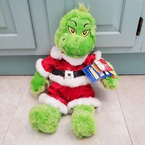 "Build a Bear The Grinch Plush 20"" w/ Christmas Santa Suit Light Up Heart 2012"