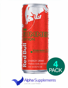 RedBull Energy Drink Summer Ltd Edition. Watermelon Flavour 4x250ml |LOW PRICE