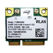 + Intel® Centrino® N 1000 802.11b/g/n 300Mbit/s WLAN Mini PCIe 112BNHMW +