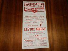 SOUTHAMPTON  v  LEYTON ORIENT 1954/5  DIVISION 3 (SOUTH) ~ SEPT 15th  FREE POST
