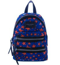 Marc Jacobs New York Blue Star Printed Canvas Nylon Backpack