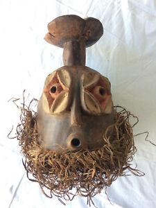 Art africain - Masque bois et paille du Rwanda