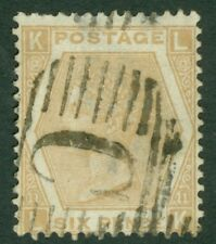 SG 123 6d pale buff, plate 11. Used in Constantinople. Fine used