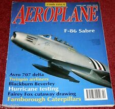 Aeroplane Monthly 1994 February Beverley,F-86,Avro 707,Hurricane,Pioneer,Fox