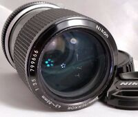 Nikon zoom Nikkor 43-86mm f3.5 Non Ai lens genuine manual focus scratched front