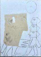 Gianpaolo Berto e Jacopo Giacomozzi - Tecnica mista su cartone, opera originale